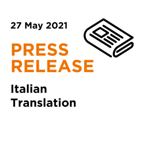2021_05_27 _ AD May ADTV Press Release - Italian